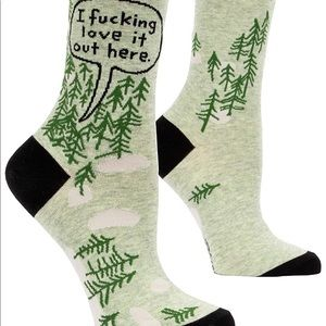 Socks Graphic - I F*CKING Love It Out Here Camping